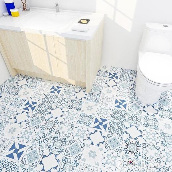 衛生間浴室防水防滑地貼自粘加厚耐磨瓷磚貼紙洗手間廁所地面貼紙 Korea時尚記