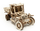 Ugears 自我推進模型 Truck UGM-11 四輪驅動卡車 美式風格拖車 自走精緻模型