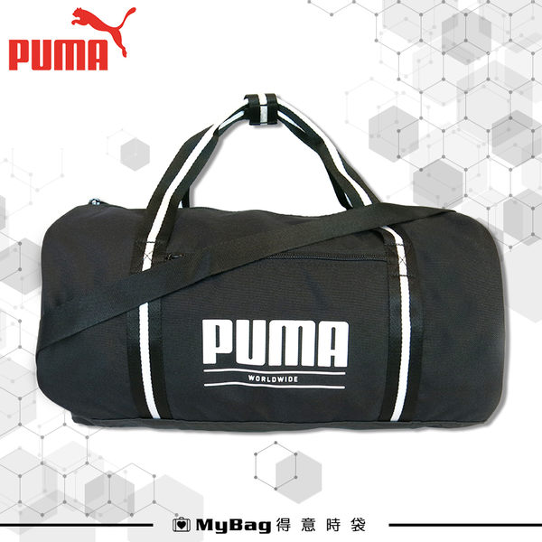 PUMA 旅行袋 行李袋 運動包 側背包 經典LOGO 076549 得意時袋
