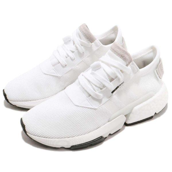 adidas 慢跑鞋 POD-S3.1 W 白 黑 透氣編織鞋面 P.O.D System 全新系列 女鞋 運動鞋【PUMP306】 B37459