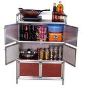碗柜-家用廚房櫥柜簡易小柜子儲物柜置物架收納柜多功能組裝經濟型新年免運特惠