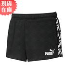 【現貨】PUMA Amplified 女裝 短褲 基本 休閒 棉質 串標 亞規 黑【運動世界】58380501