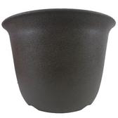 Luder S 塑質素陶盆6吋 咖啡