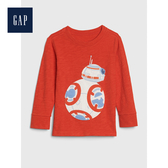 Gap男幼童 星際大戰系列長袖圓領T恤496338-橘紅色