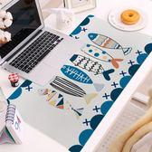 韓式雲紋魚系列游戲鍵盤墊辦公鼠標墊寫字台墊鎖邊超大加厚igo 至簡元素