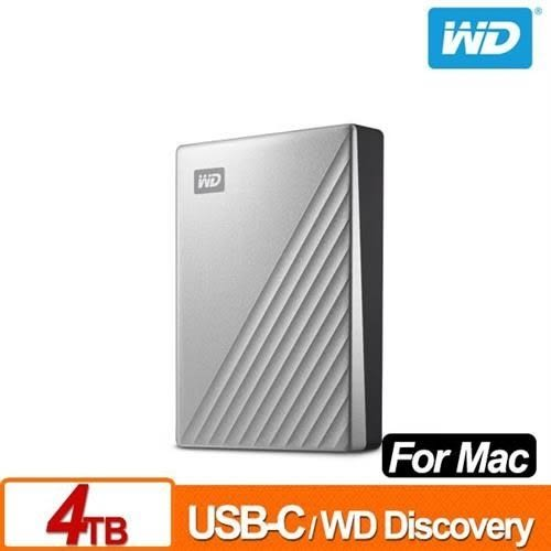 全新 WD My Passport Ultra for Mac 4TB 2.5吋USB-C行動硬碟 公司貨