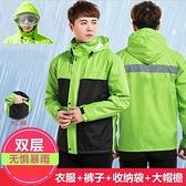 雨衣雨褲套裝加厚防水分體成人騎行防暴雨雨衣外套【聚寶屋】