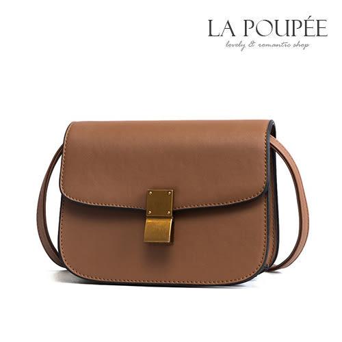 側背包 時尚歐風復古鎖馬鞍包 2色 -La Poupee樂芙比質感包飾 (現貨+預購)