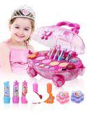 無毒兒童化妝品公主彩妝盒套裝女孩口紅過家家玩具生日禮物