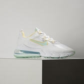 Nike W Air Max 270 React 女 白橘綠 氣墊 運動 休閒鞋 DJ3027-100
