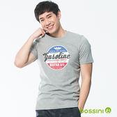 印花短袖T恤23淺灰-bossini男裝
