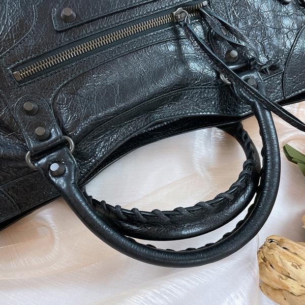 【雪曼國際精品】Balenciaga 巴黎世家 CLASSIC CITY 115748銅釦羊皮機車包─二手9.8成新