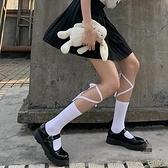 交叉小腿襪長筒jk系帶lolita日系綁帶襪子女中筒襪【愛物及屋】