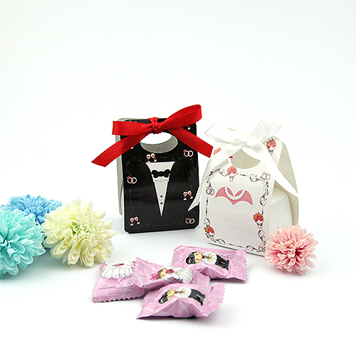 幸福婚禮小物❤新郎新娘 喜糖盒---10入❤喜糖盒/送客禮/迎賓禮