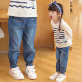 萬聖節狂歡 女童牛仔褲春秋2018新款寬鬆小童薄款夏1歲3兒童裝春裝女寶寶褲子 桃園百貨