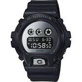 CASIO 卡西歐 G-SHOCK 經典坦克手錶-鏡面銀 DW-6900MMA-1 / DW-6900MMA-1DR
