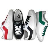 PONY 皮革 四色 白黑 黑白 學生鞋 基本款 低筒 休閒鞋 男女款 (布魯克林) 63U1TS61-