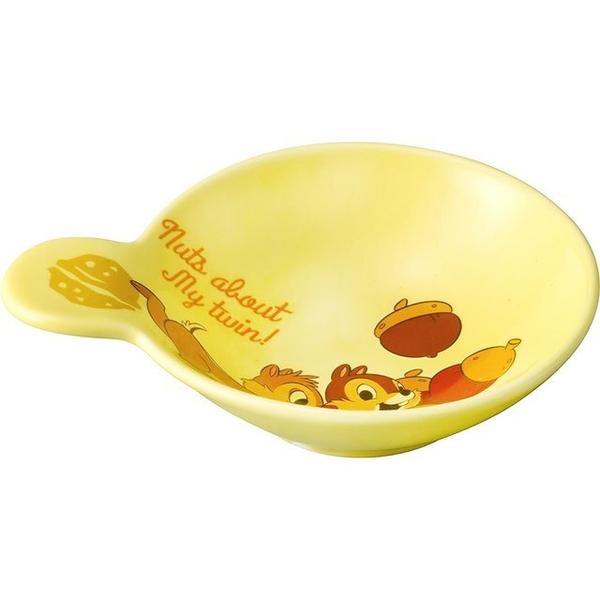 小禮堂 迪士尼 奇奇蒂蒂 單耳陶瓷醬料盤 (棕松果款) 4942423-24418