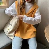 假兩件連帽衛衣女初秋新款韓版寬鬆百搭學生薄款長袖上衣外套 韓國時尚週
