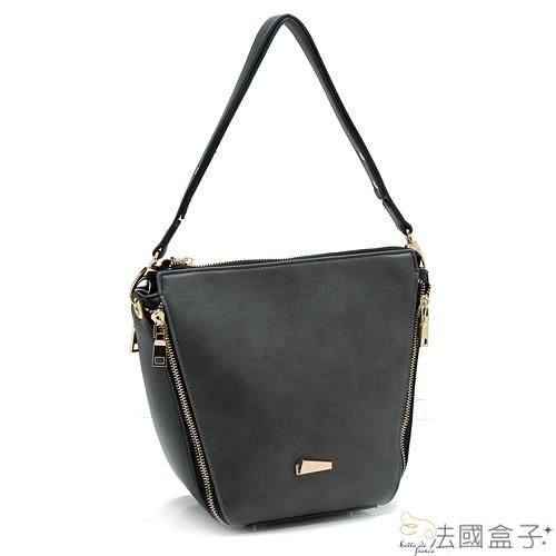 三用包-法國盒子.韓版時尚潮流配色百變造型三用包(共二色)8697
