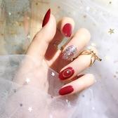 美甲成品假指甲貼片ins新娘成品甲網紅穿戴甲片短款可拆卸 居享優品