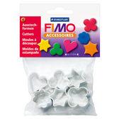 施德樓FIMO軟陶 ACCESSORIES MS8724 03 DIY圖案壓模組-金屬模型6片入