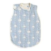 Hoppetta 寶寶防踢被背心(M)-綿羊藍 0-3歲 | 日本製六層紗-寢具用品(初生嬰幼兒/新生兒/兒童)