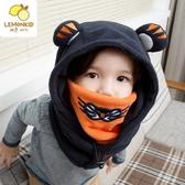 兒童帽子秋冬男童女童護耳帽連帽套頭帽冬季保暖嬰兒寶寶帽子冬潮