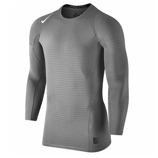 NIKE 運動長袖 緊身衣 PRO COMP 灰 保暖 內刷毛 訓練 健身 男 (布魯克林) 826596-037