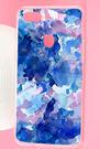 ♥ 俏魔女美人館 ♥ OPPO R15 {藍色水墨*防摔空壓軟殼} 手機殼 手機套 保護殼