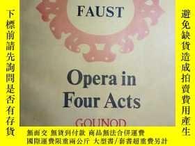 二手書博民逛書店ZCD罕見英文曲譜:FAUST Opera in Four Ac