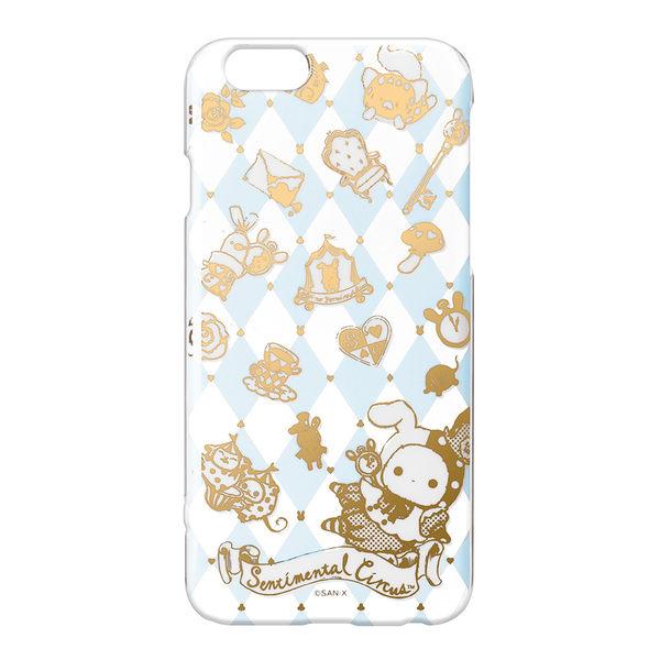 【日本 PGA-iJacket】正版 San-X iPhone6/6s 透明金箔塗鴉系列-撲克風憂傷馬戲團 1007