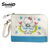 【正版授權】凱蒂貓 北歐風 收納包 隨身包 手拿包 Hello Kitty 三麗鷗 Sanrio - 005169