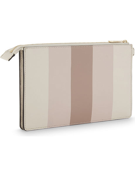 MICHAEL KORS Daniela Multi Stripe 大款手拿包 手腕包