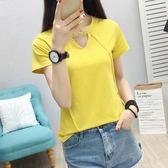 短袖上衣女夏裝新款春夏天韓版打底衫百搭學生修身小衫T恤潮   檸檬衣舍