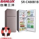 【SANLUX三洋】480L 1級節能定頻大蔬果室雙門冰箱 SR-C480B1B 含基本安裝 免運費