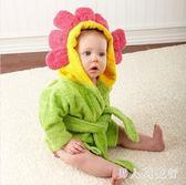 兒童浴袍寶寶棉質卡通帶帽吸水毛巾料男女童睡袍洗澡沙灘巾   XY3239  【男人與流行】