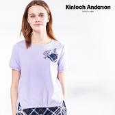 【Kinloch Anderson金安德森】品牌熊搭配下擺造型袖繩短袖上衣(藏青/淺紫) KA1083006
