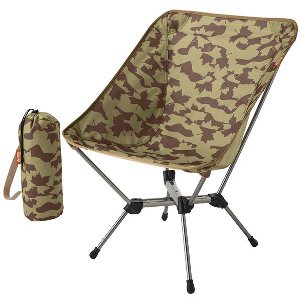 [好也戶外] LOGOS 鋁合金楓迷彩折合椅-BJ No.73173134