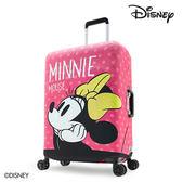 箱套 DESENO DISNEY 迪士尼 米妮MINNIE 點點 彈性箱套 行李箱套 行李保護套 L號 少女夢想 B1129-0005