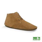 SANUK 俏皮綁帶麂皮短靴-女款1014521 TOB(咖啡色)