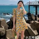 三亞海邊度假沙灘裙女短款小個子法式洋裝子夏季輕熟風超仙氣質 小艾新品