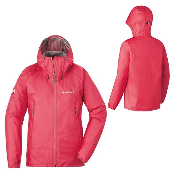 [好也戶外]mont-bell StormCruiser女款連帽風雨衣/玫紅 No.1128533-RSRD