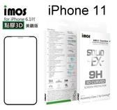 【IMOS】 神極3D款點膠3D康寧2.5D滿版玻璃保護貼 iPhone 11 (6.1吋) 玻璃螢幕保護貼