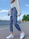 哈倫牛仔褲女直筒寬鬆夏季2021年新款高腰顯瘦春秋闊腿老爹蘿卜褲 果果輕時尚