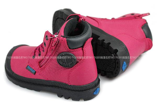 法國 Palladium Waterproof 桃色 皮革 防水短靴 小童鞋 NO.R2234