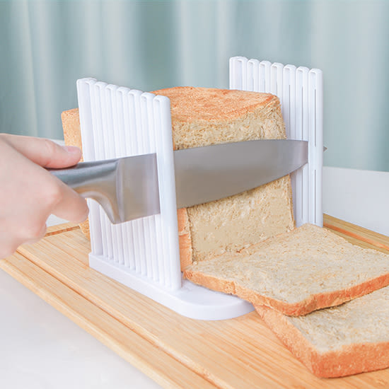 ✭米菈生活館✭【M57】吐司切片器 廚房 麵包切割器 烘焙工具 吐司分片器 DIY 料理 手作 大小均一