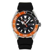 SEIKO 精工手錶專賣店  SRPC59J1 日製運動機械男錶 橡膠錶帶 橙橘X黑 防水100米