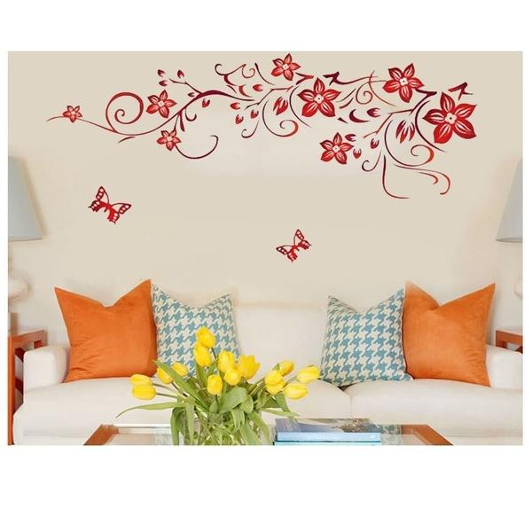 創意壁貼--蝴蝶、花 1702-1029【AF01013-1029】99愛買小舖