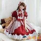 女童洋裝洛麗塔裙公主裙蘿莉塔兒童長袖【淘嘟嘟】